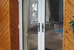 PVCu french double doors