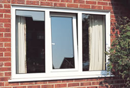 PVCu tilt and turn window in white