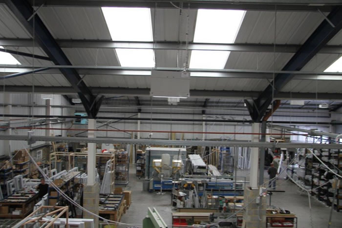 The new 20,000 sq ft PVCu manufacturing facility
