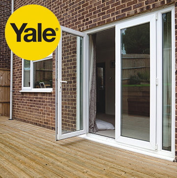 PVCu double french doors in white