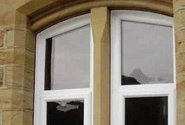 Arched pvcu windows